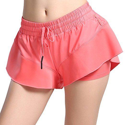 iBaste Rapida essiccazione di femminile pantaloncini sportivi