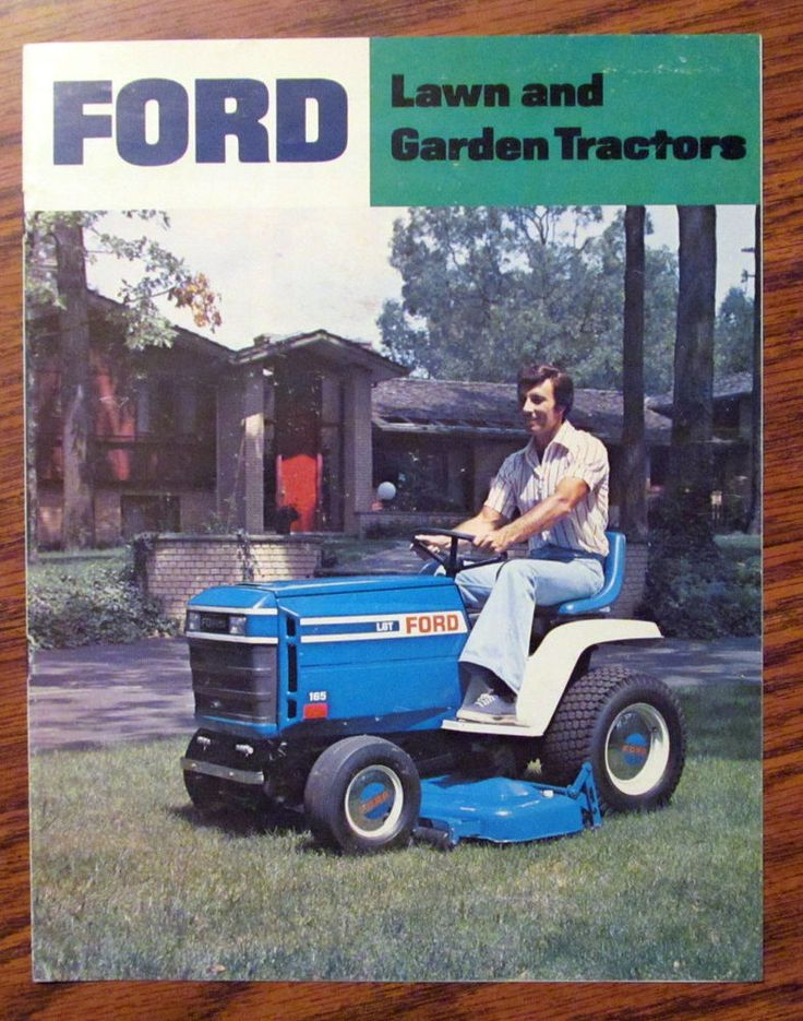 Ford LGT 165 145 125 120 100 LT 110 80 Lawn Garden Tractor Sales Brochure 1978 #ford
