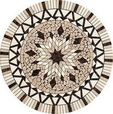 China Bathroom Round Stone Mosaic Tile , 10 x 10mm Marble Mosaic Floor Tiles supplier