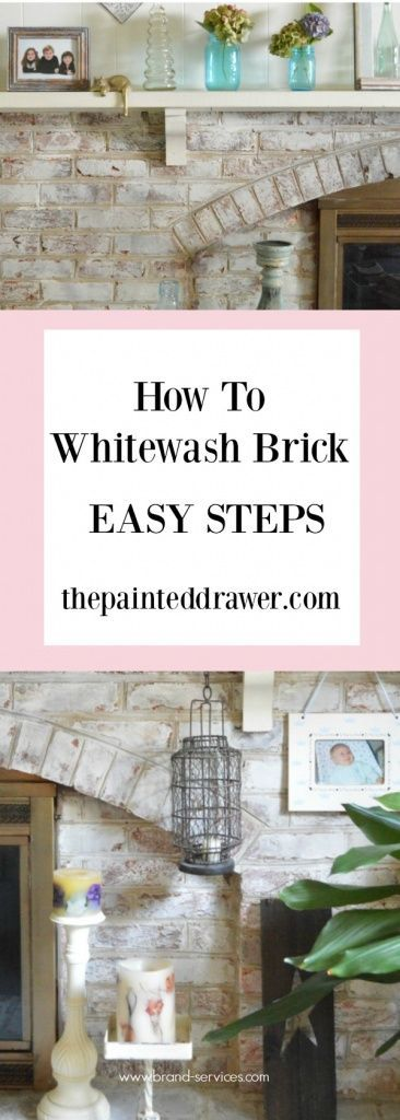 How to Whitewash Brick Using Chalk Paint - Easy DIY