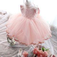 Di alta qualità vestito dalla neonata battesimo abito per la ragazza infantile 1 anno di compleanno per la bambina chirstening per il bambino g4