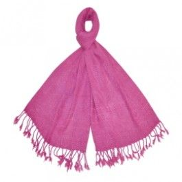 Berry handwoven scarf