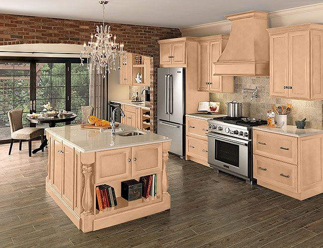 Merillat Cabinets Bayville Cotton With Tuscan Glaze Finish