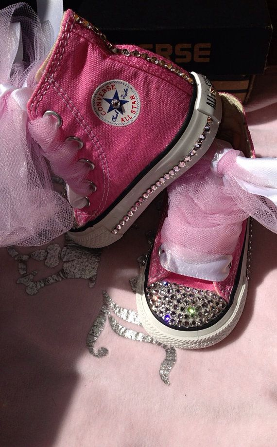 Custom Converse for toddlers with Swarovski and by TaylorsPenny, $80.00