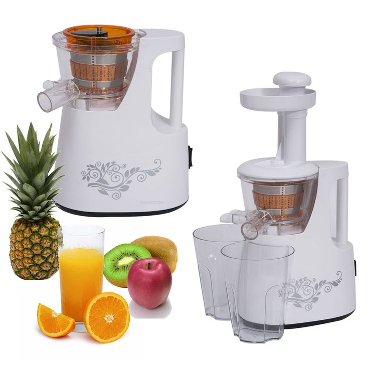 150W Convenient Slow Juicer Electric Power Vegetable Fruit Extractor White #HomCom #Modern