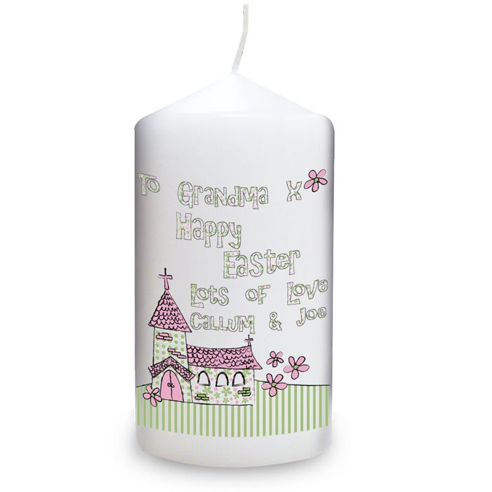 29 best easter gift ideas not just chocolate images on pinterest easter gift ideas personalised whimsical church easter candle easter gift 899 negle Gallery