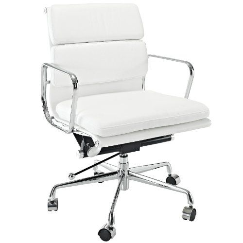 office chair genuine leather white. lexmod discovery mid back leather conference office chair in white genuine lexington modern 30100 8 r