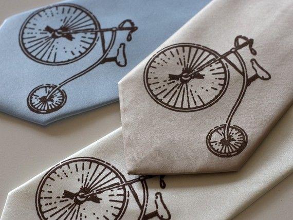 Antique Bicycle  vintage hiwheel bike screenprinted by Cyberoptix, $30.00