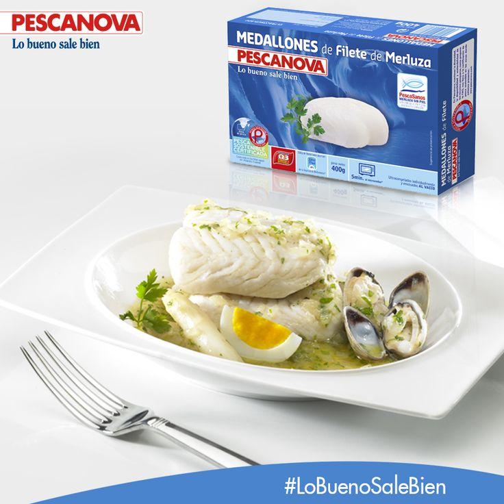 Los medallones de Filete de Merluza Pescanova son la opción perfecta para una alimentación sana y equilibrada. ¡Prepáralos al horno, a la plancha, cocidos o en salsa!