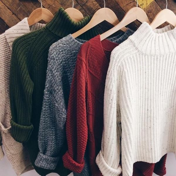 Sweaters are the majority of what I wear.. besides t-shirts