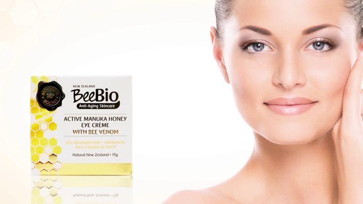 beebioskin.com 100%Authentic Active Manuka Honey Bee Venom Eye Serum OLD Ad Roll