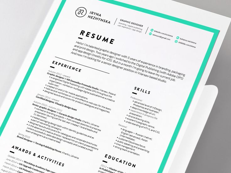 84 best Work Self Promotion images on Pinterest Resume design - resumes with color