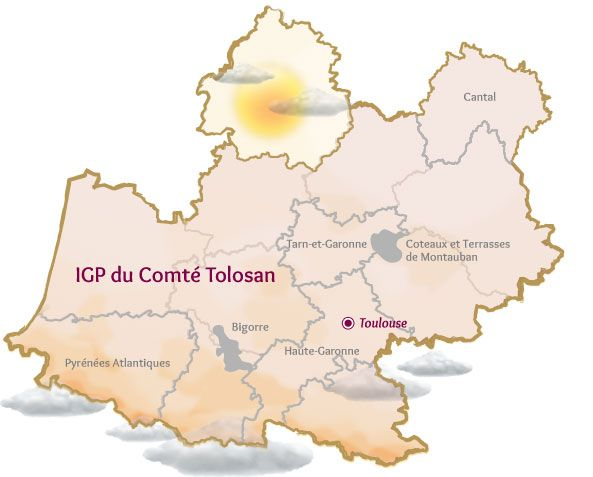 Carte IGP régionale