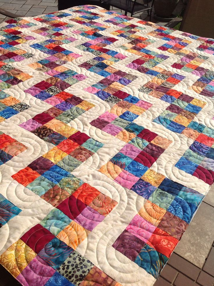"Previous pinner says ""Simple to great effect. Less Is More...."" I agree. Let there be an end to obsessive-compulsive quilting."