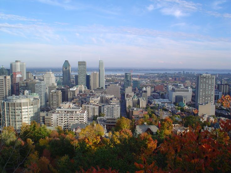 Montreal, because the first time I went, I went with him.