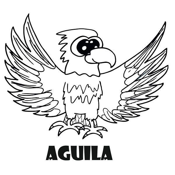 Dibujo De Animales Para Colorear Dibujo De águila Para