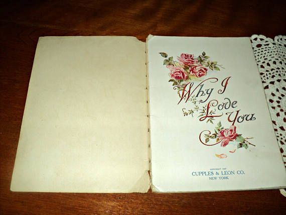 Antique Love Poems 1907 Victorian Poetry Various Authors