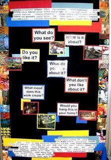 Thinking Critically About Art | Art Room Bulletin Board Idea