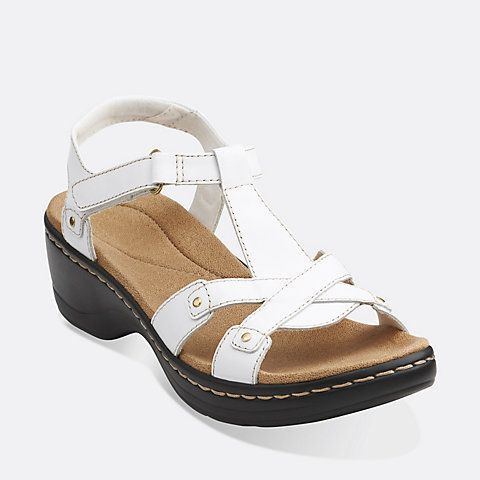 Clarks - Hayla Flute White Leather