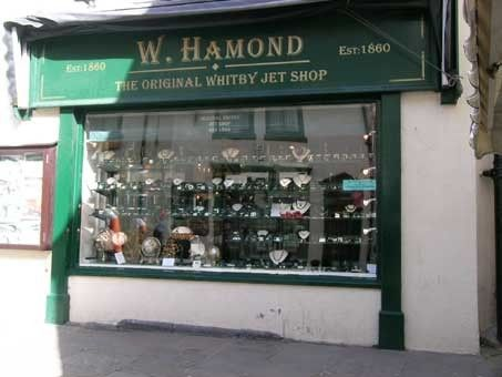 The Original Whitby Jet Shop, Whitby, North Yorkshire, England.