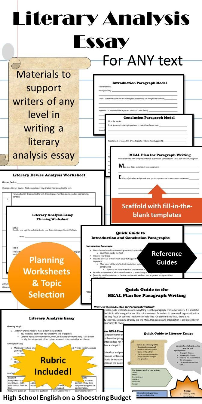 high school literary analysis essay In the following literacy narrative  describes her experience taking the standardized writing proficiency test that high school students literary analysis.