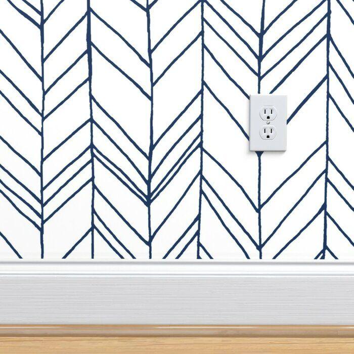 Ivy Bronx Whittaker Removable Peel And Stick Wallpaper Panel Wayfair In 2020 Chevron Wallpaper Self Adhesive Wallpaper Wallpaper Panels