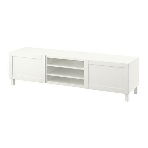 "BESTÅ $229 TV unit with drawers - Hanviken white, 70 7/8x15 3/4x18 7/8 "", drawer runner, soft-closing - IKEA"