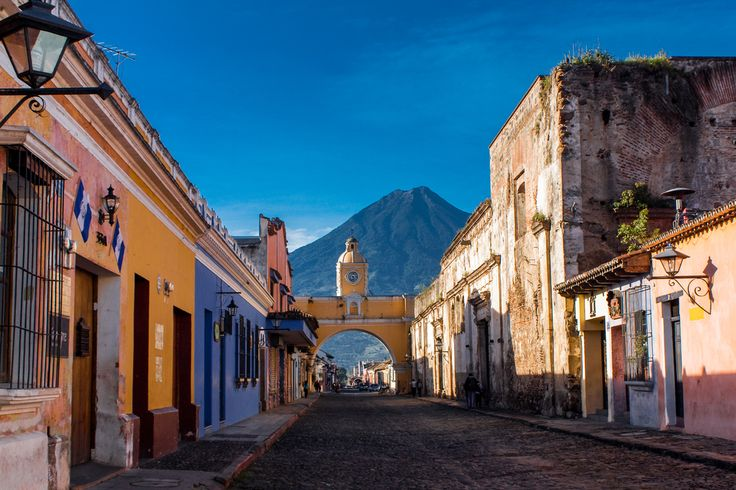 UNESCO listed city of Antigua, with its colourful houses, in Guatemala is a lovely destination for your Central American trip.