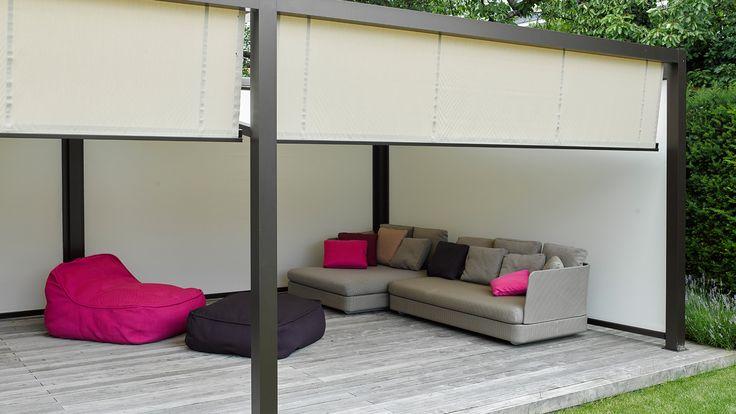 Elegante Sonnenschutz-Lösungen für Freisitz + Garten: Lounge-Beschattungen, Pergolen, Sonnen-Schirme und Sonnen-Segel in allen erdenklichen Varianten