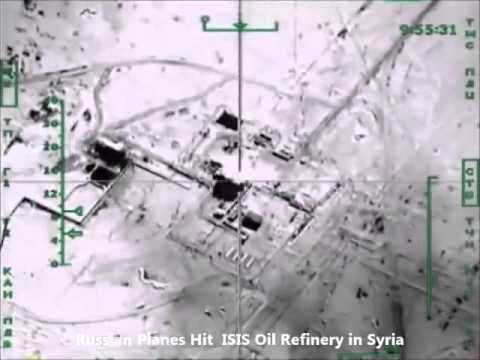 Russia in Syria Airstrikes Hit ISIS Oil Refinery