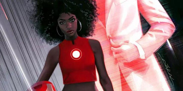 Riri Williams es una joven afroamericana de sólo 15 años que cuenta con su propia armadura, construida por ella misma en su habitación  - http://j.mp/29hWYQm