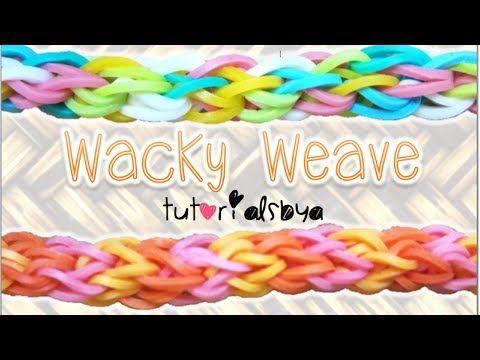 Rainbow Loom WACKY WEAVE Bracelet. Designed and loomed by TutorialsByA. Click photo for YouTube tutorial. 05/13/14.
