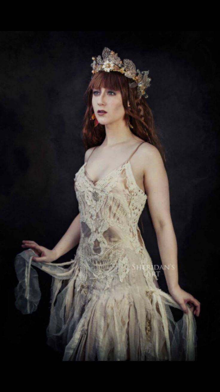346 best raw rags images on pinterest alternative for Best etsy wedding dress shops
