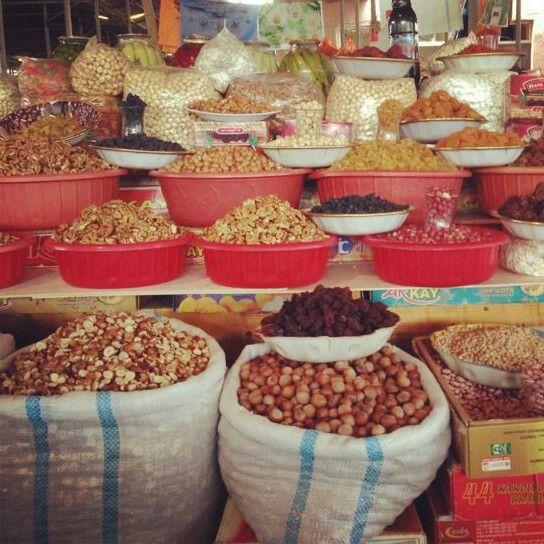 Dry fruits and nuts ...markets of Azerbaijan ♥