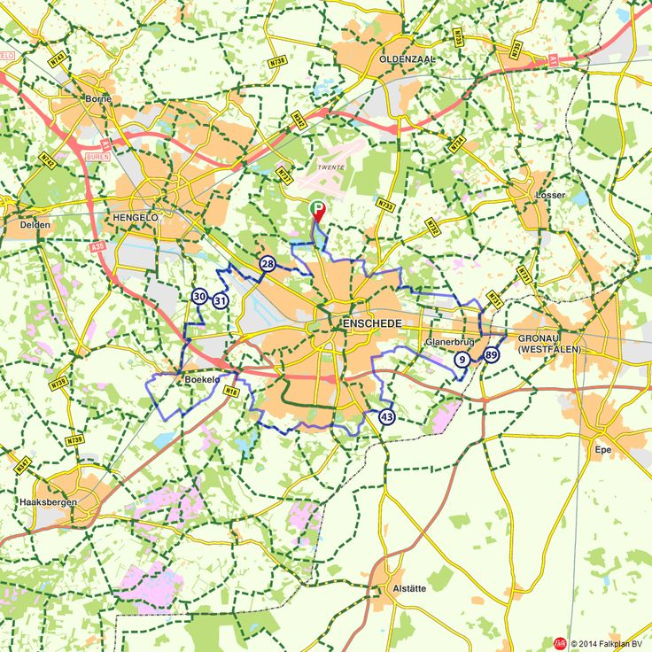 Fietsroute: Rondje Enschede  (http://www.route.nl/fietsroutes/143632/Rondje-Enschede/)