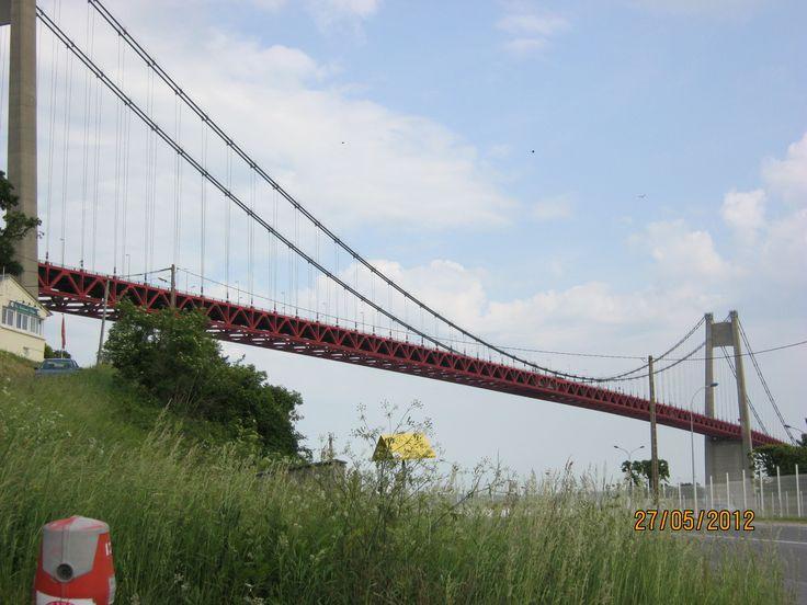 Pont de Tancarville entre le département de la Seine-Maritime et de l'Eure
