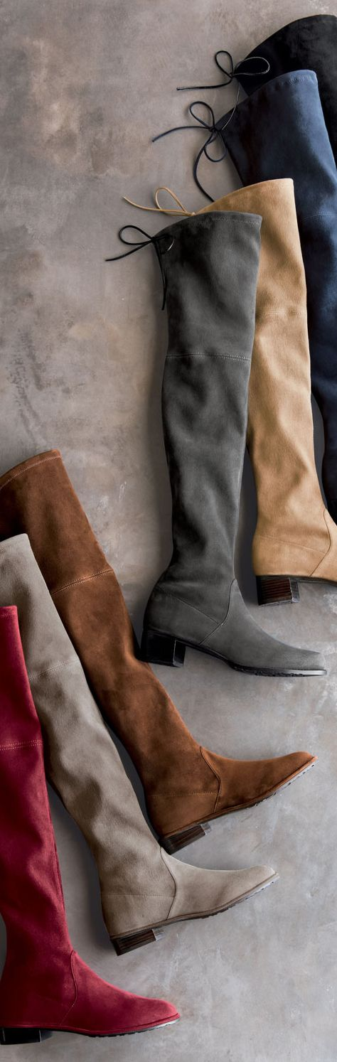 #StuartWeitzman Boots My favorite OTK boots.....so many colors, and they look great with anything.