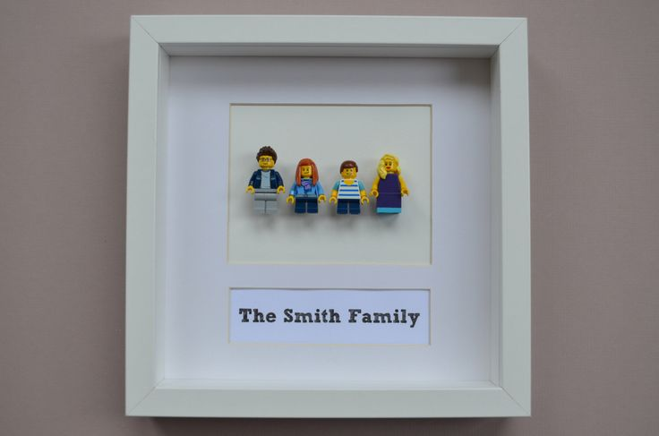 Personalised Family Portrait  Matched your Family in Lego ® mini figures Idea for a Spring gift by FankleFox on Etsy https://www.etsy.com/listing/201648891/personalised-family-portrait-matched