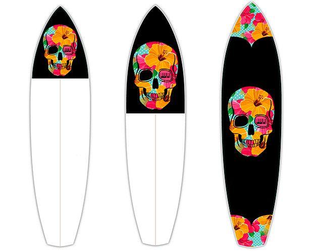 Flower Bones   CTRL V   Surfboard Customisation   Surfboard Wall Art   Surfboard decals   Surfboard Designs