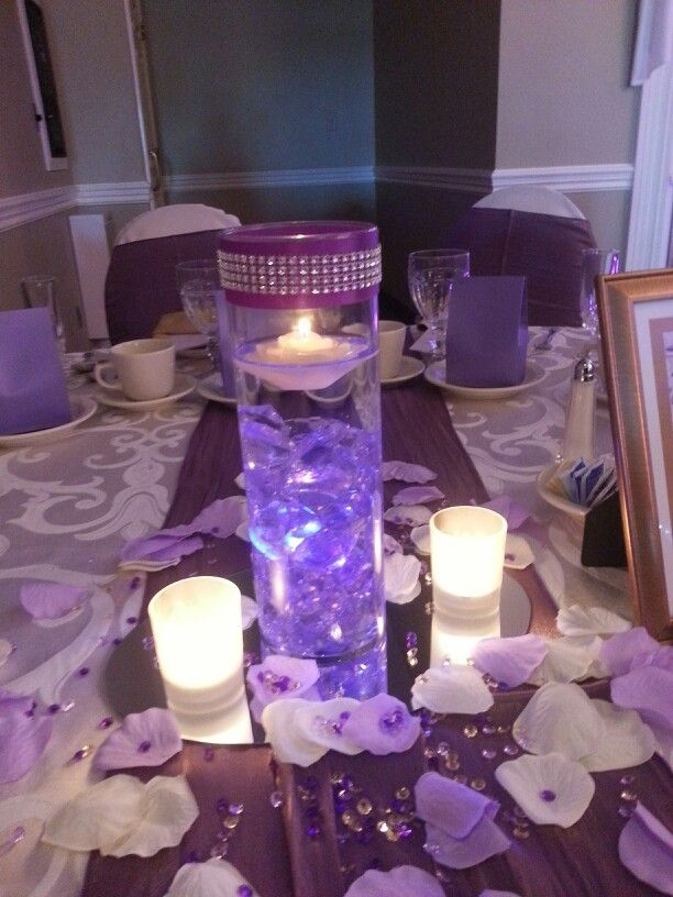 Best images about floating candle rhinestone mesh