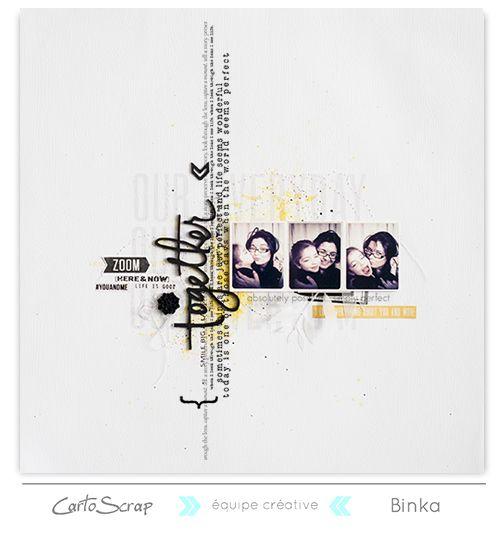 Challenge récompensé de Mars 15 - Page de Binka sur le blog Cartoscrap