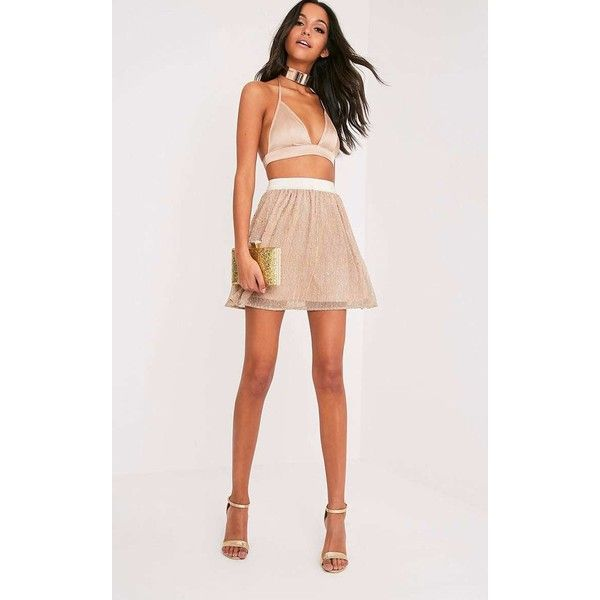 Katara Gold Metallic Sequin Mini Skirt ($9.07) ❤ liked on Polyvore featuring skirts, mini skirts, yellow, mini skirt, yellow skirt, short skirts, sequin mini skirt and going out skirts