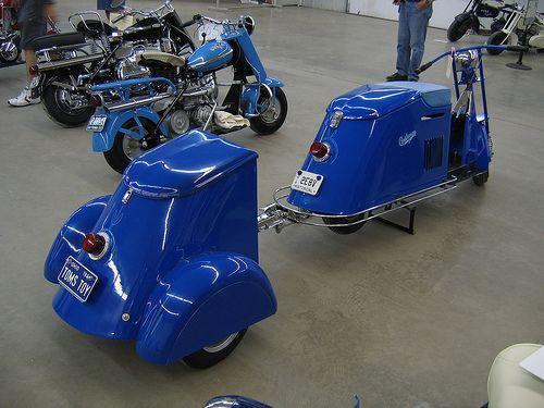 Cushman scooter + trailer