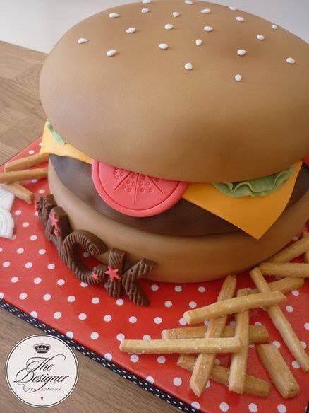 Burger Cake Cake Amp Co Pinterest Cakes Burger Cake