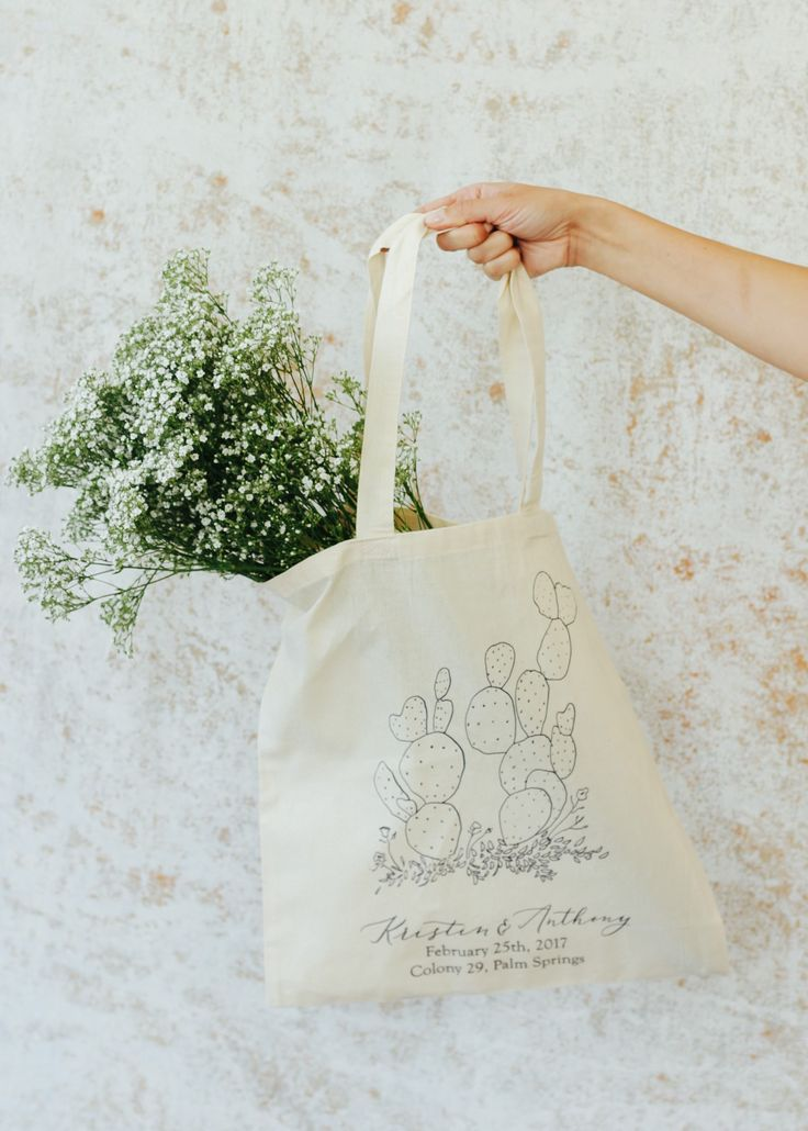 Little Road Calligraphy & Design | Wedding favor tote bag | custom tote bag