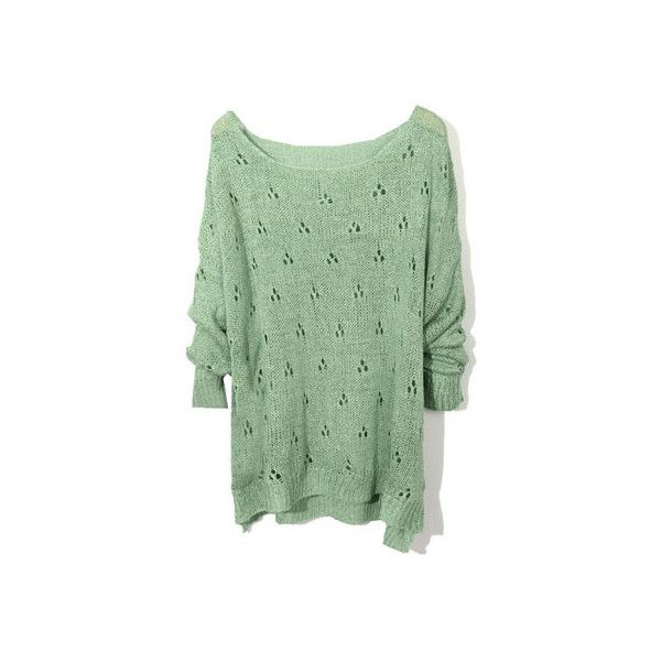 Plum Blossom Fitted Green Jumpers(Coming Soon) [NCSWJ0095] - $34.99 : ($35) ❤ liked on Polyvore