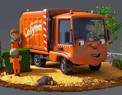 """Check out new work on my @Behance portfolio: """"Garbage truck"""" http://on.be.net/1Nlq7IW"""