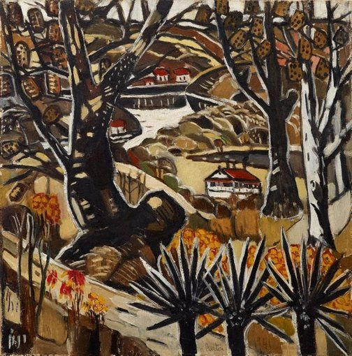 I lived at Berowra, 1941, Margaret Preston, oil on canvas, 46.4 x 39.7 cm, Art Gallery of NSW