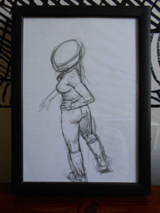 LIBERATORE Tanino - originele illustratie Pin Up (1990s)  Tanino LiberatoreOriginele potlood schets beeltenis van een Pin Up op A4-papier (21 x 29 cm) door de bekende auteur van Ranxerox  EUR 5.00  Meer informatie