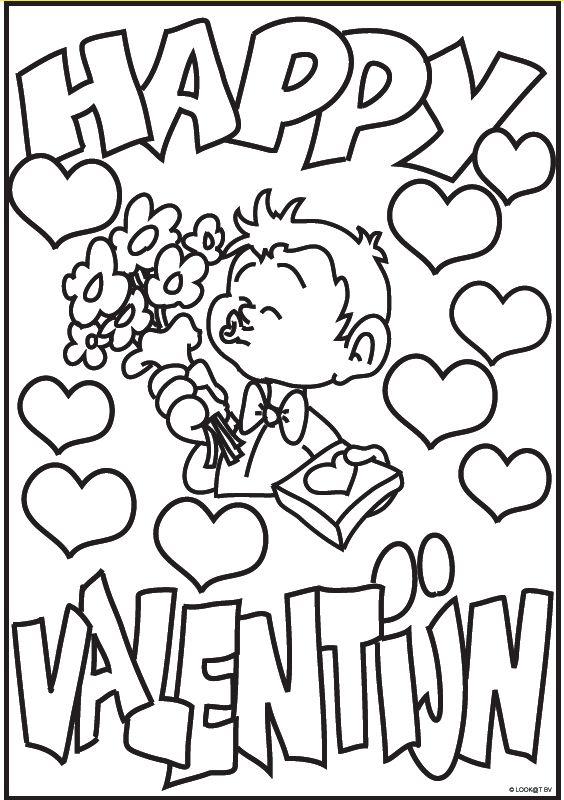 17 Beste Afbeeldingen Over Valentijn Kleurplaten Op